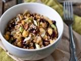 chickpea & bulgur wheat salad with cranberries, almonds & a tangyvinaigrette